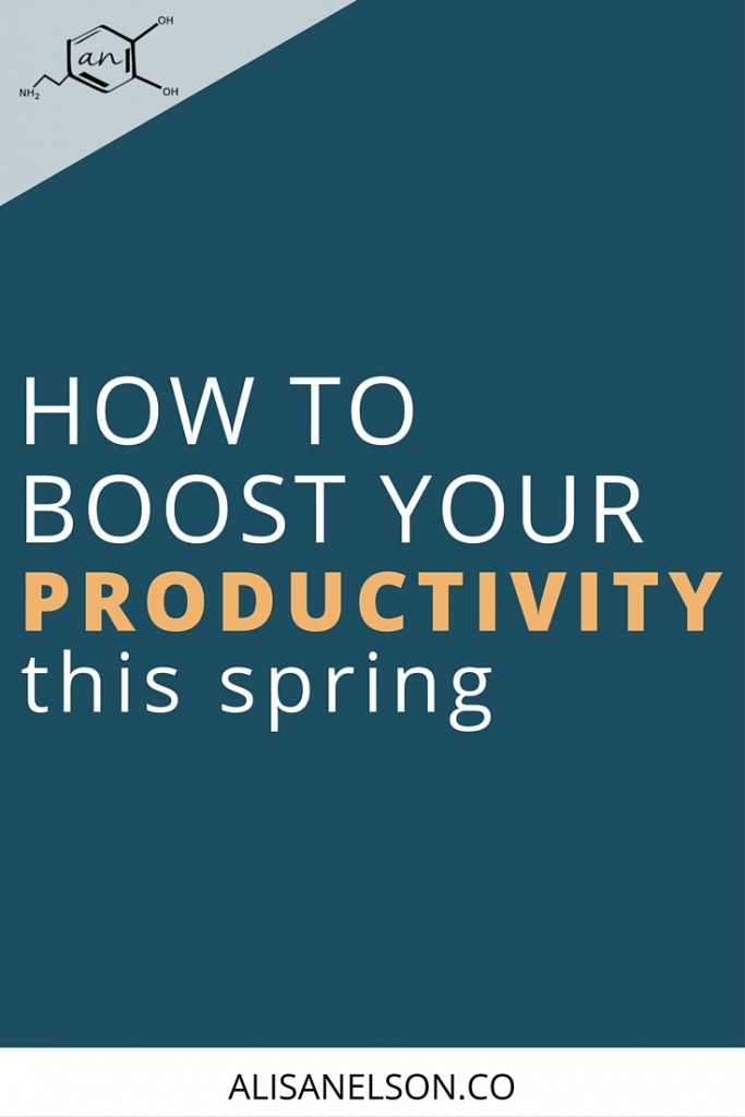 You might think that in order to be more productive you must spend more hours at your desk but in reality there's a better way. Read on for a natural, everyday method for boosting your productivity. More at: http://alisanelson.co