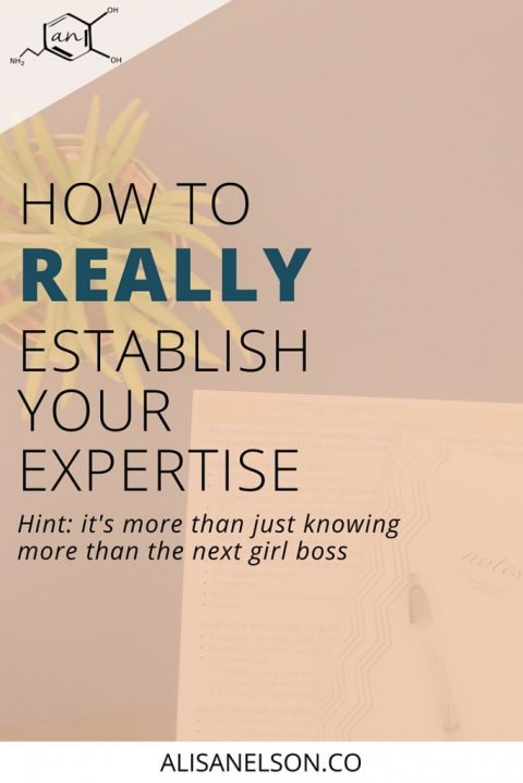 How to really establish your expertise