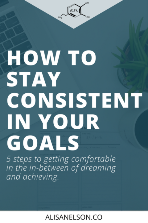 5 steps to staying consistent in your goals
