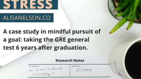 Growing through stress – GRE reflection
