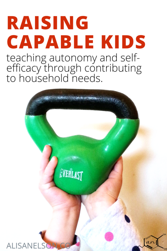 Starting steps for training kids to contribute to household needs. Read more at http://alisanelson.co